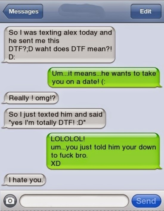 What does dtf mean in slang